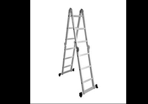 Escalera multifuncional en aluminio